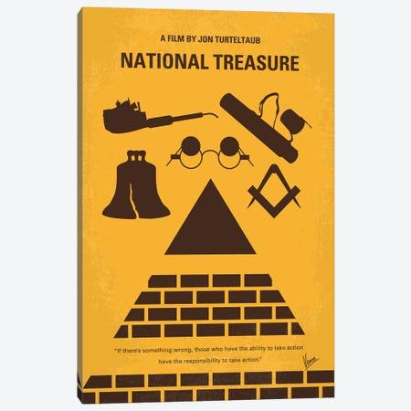 National Treasure Minimal Movie Poster Canvas Print #CKG961} by Chungkong Canvas Artwork