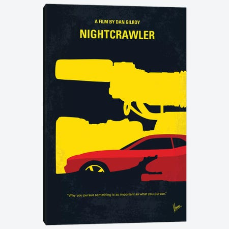 Nightcrawler Minimal Movie Poster Canvas Print #CKG963} by Chungkong Canvas Art