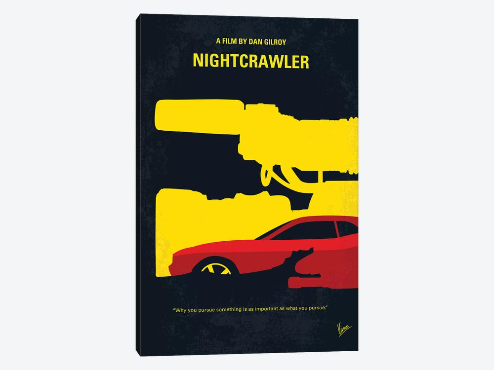 Nightcrawler Minimal Movie Poster by Chungkong 1-piece Canvas Wall Art
