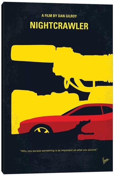 Nightcrawler Minimal Movie Poster Canvas Art Print
