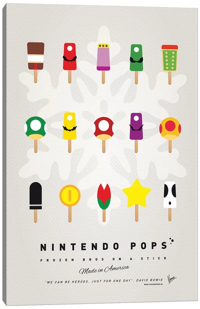 Nintendo Ice Pop I Canvas Art Print