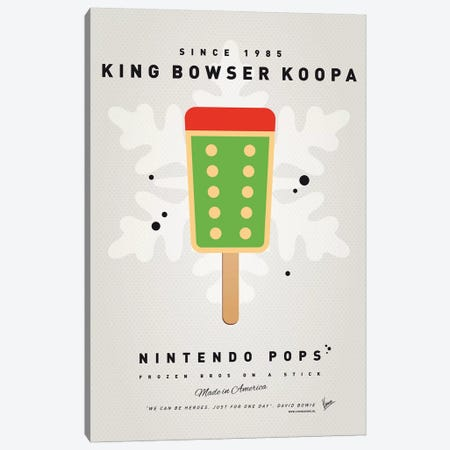 Nintendo Ice Pop VI Canvas Print #CKG969} by Chungkong Canvas Artwork