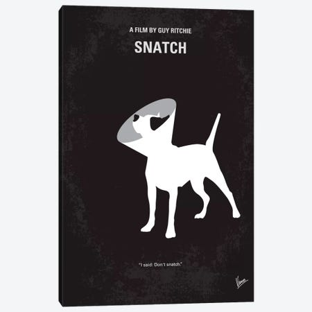 Snatch Minimal Movie Poster Canvas Print #CKG96} by Chungkong Art Print