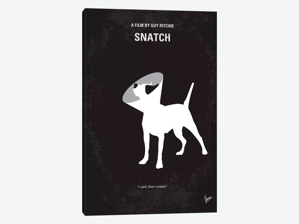 Snatch Minimal Movie Poster by Chungkong 1-piece Canvas Artwork