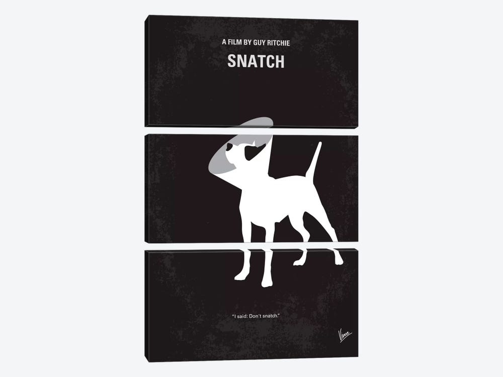 Snatch Minimal Movie Poster 3-piece Canvas Art