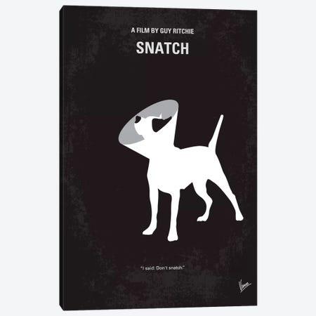 Snatch Minimal Movie Poster Canvas Print #CKG96} by Chungkong Art Print
