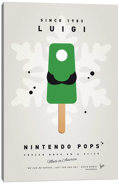 Nintendo Ice Pop VII Canvas Art Print