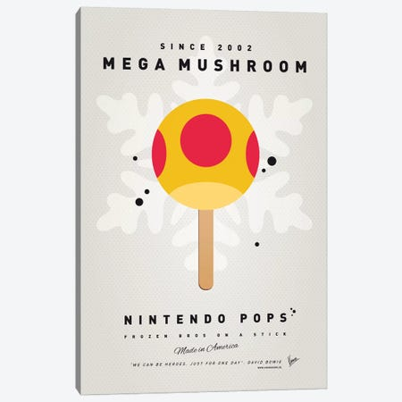 Nintendo Ice Pop X Canvas Print #CKG973} by Chungkong Art Print
