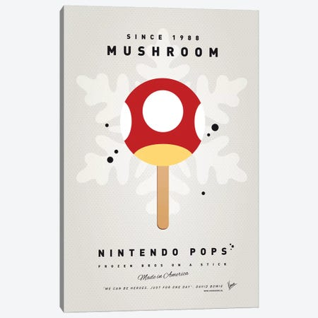 Nintendo Ice Pop XI Canvas Print #CKG974} by Chungkong Canvas Wall Art