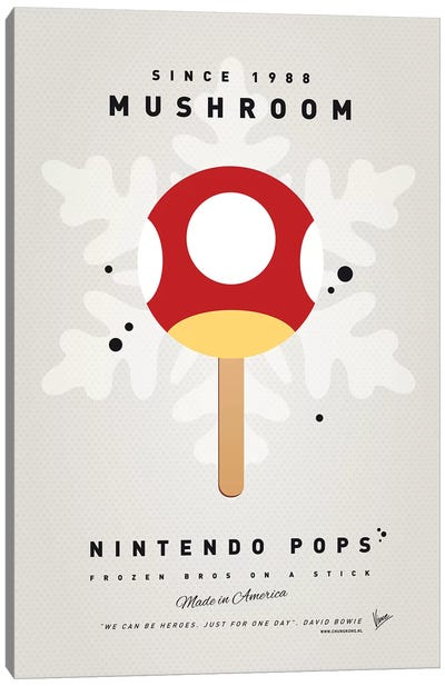 Nintendo Ice Pop XI Canvas Art Print