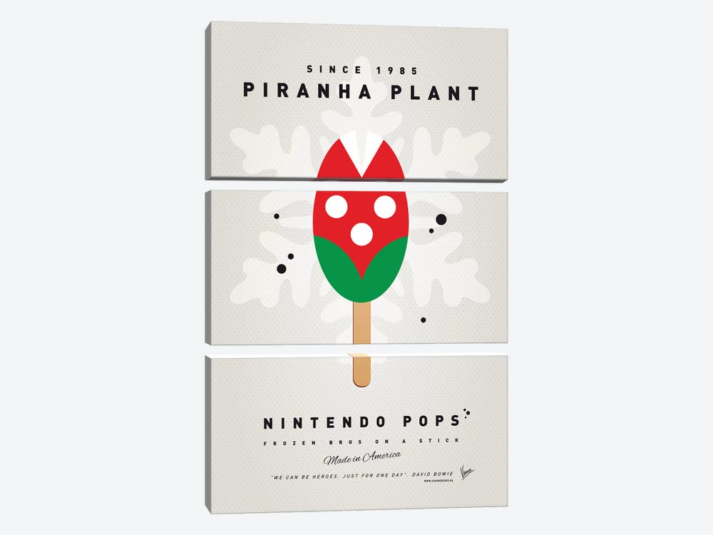 Nintendo Ice Pop XII by Chungkong 3-piece Canvas Print