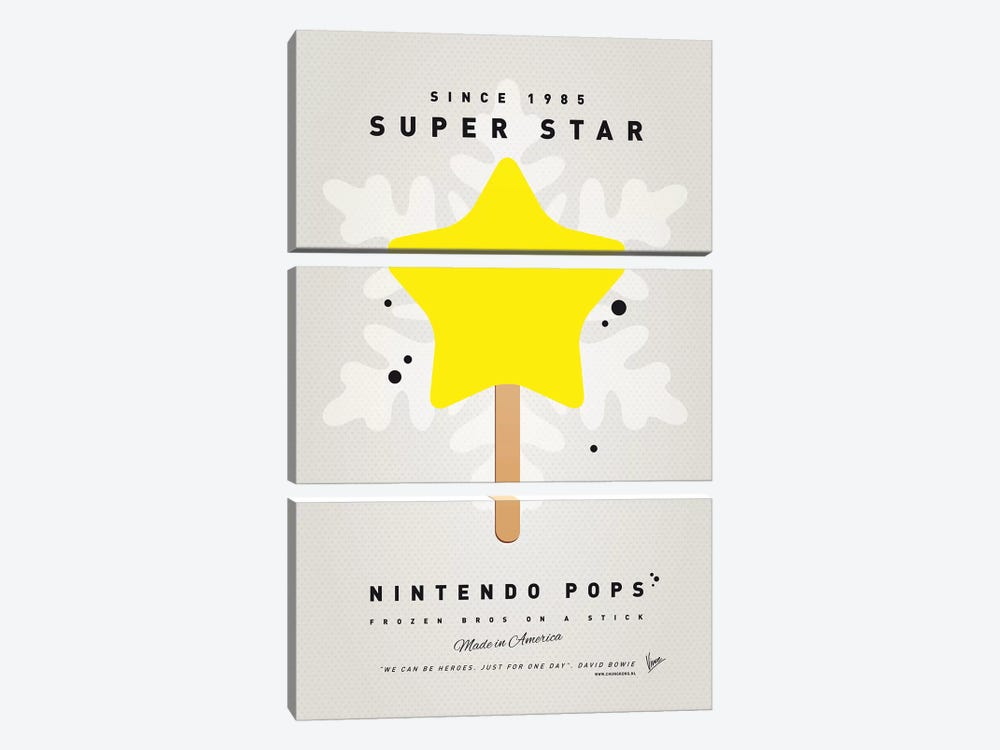 Nintendo Ice Pop XV by Chungkong 3-piece Canvas Wall Art