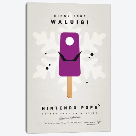 Nintendo Ice Pop XVI Canvas Print #CKG979} by Chungkong Canvas Art Print