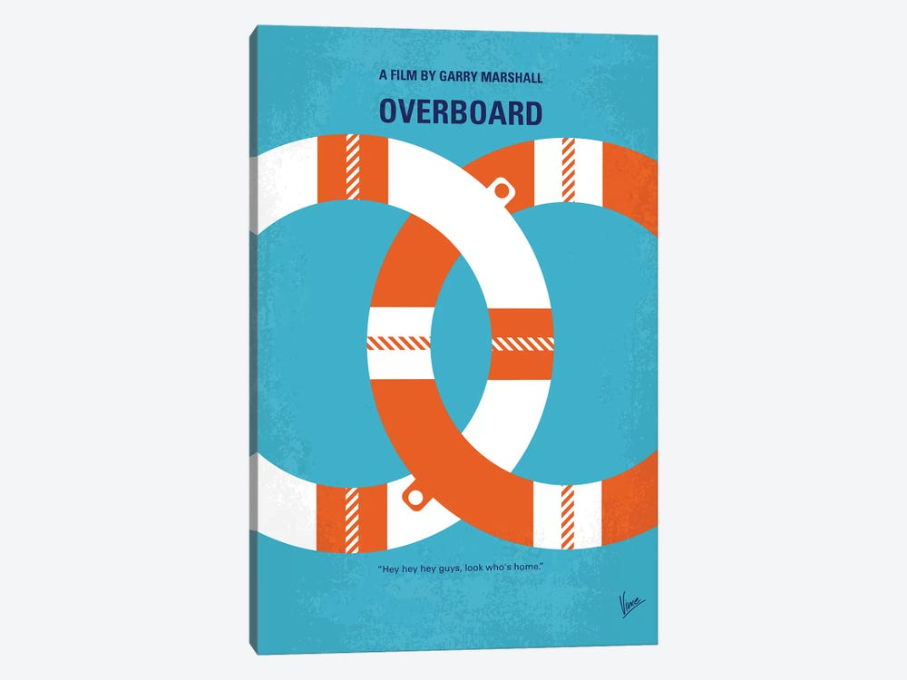 Overboard Minimal Movie Poster by Chungkong 1-piece Art Print