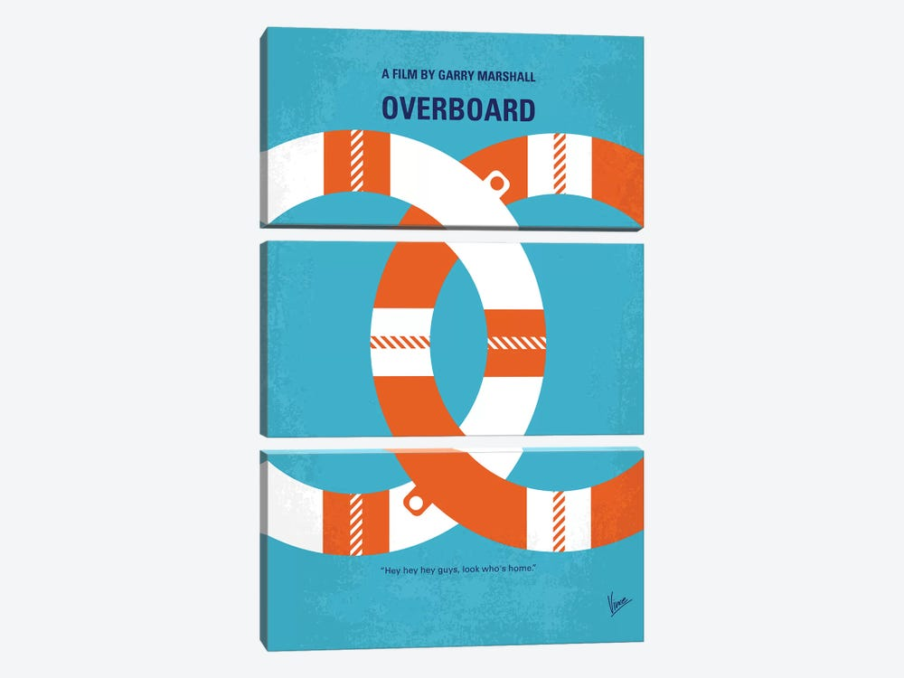 Overboard Minimal Movie Poster by Chungkong 3-piece Canvas Art Print