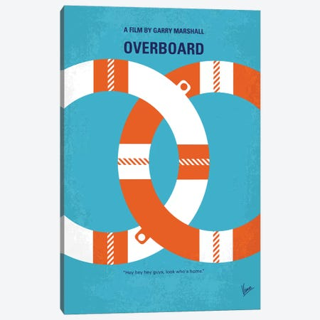 Overboard Minimal Movie Poster Canvas Print #CKG982} by Chungkong Canvas Art