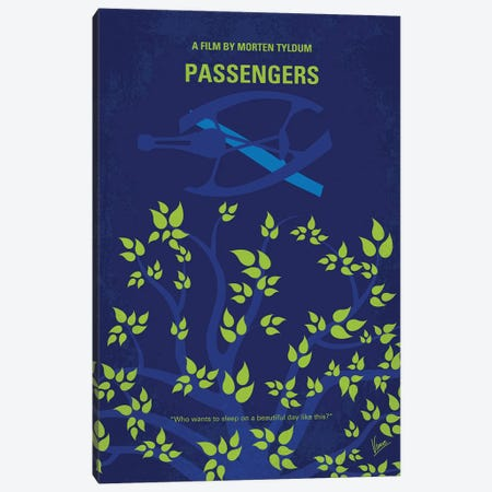 Passengers Minimal Movie Poster Canvas Print #CKG984} by Chungkong Art Print
