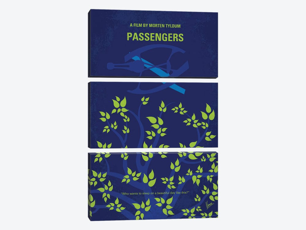 Passengers Minimal Movie Poster by Chungkong 3-piece Canvas Print