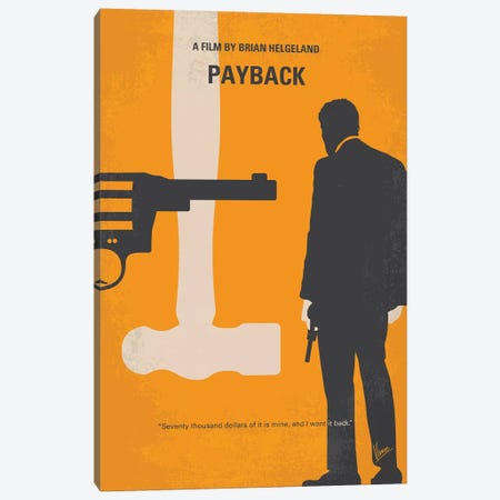 Payback Minimal Movie Poster Canvas Print #CKG985} by Chungkong Canvas Print
