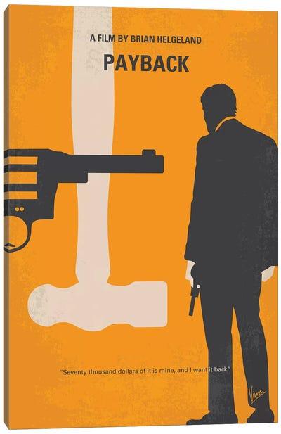 Payback Minimal Movie Poster Canvas Art Print