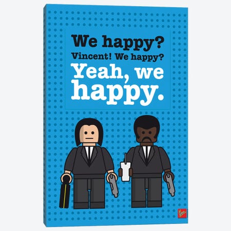Pulp Fiction Lego Dialogue Poster Canvas Print #CKG986} by Chungkong Canvas Print