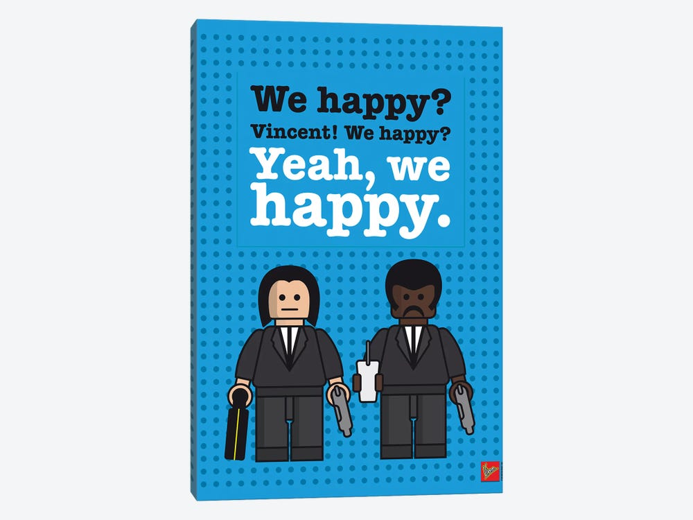 Pulp Fiction Lego Dialogue Poster by Chungkong 1-piece Art Print