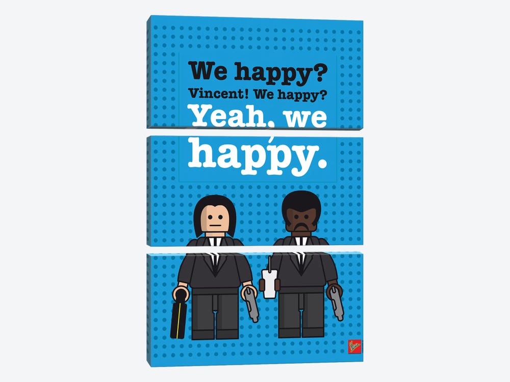 Pulp Fiction Lego Dialogue Poster by Chungkong 3-piece Art Print