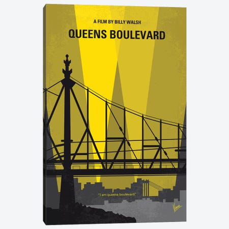 Queens Boulevard Minimal Movie Poster Canvas Print #CKG987} by Chungkong Art Print
