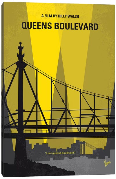 Queens Boulevard Minimal Movie Poster Canvas Art Print