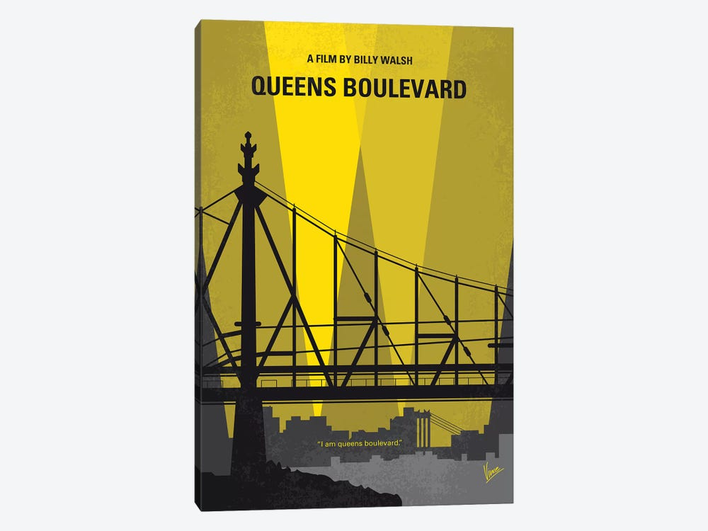 Queens Boulevard Minimal Movie Poster 1-piece Canvas Art