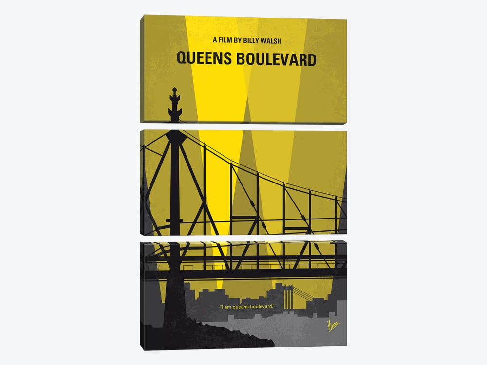 Queens Boulevard Minimal Movie Poster by Chungkong 3-piece Canvas Art