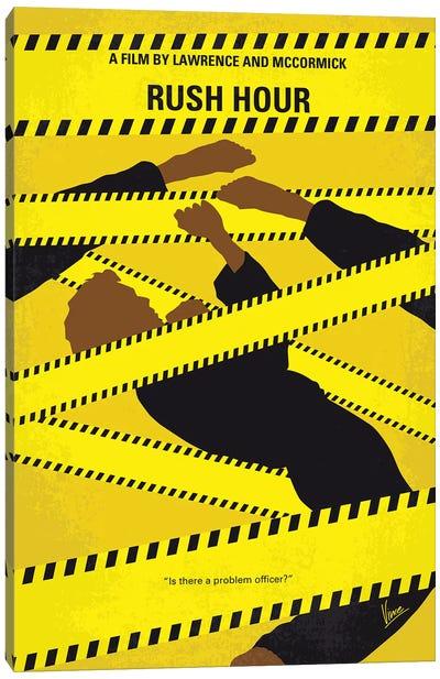 Rush Hour Minimal Movie Poster Canvas Art Print