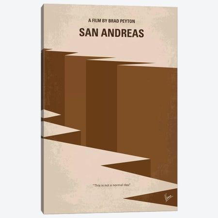 San Andreas Minimal Movie Poster Canvas Print #CKG995} by Chungkong Canvas Wall Art