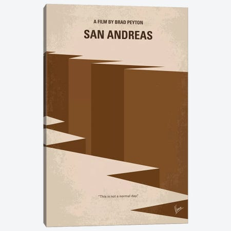 San Andreas Minimal Movie Poster Canvas Print #CKG995} by Chungkong Canvas Wall Art