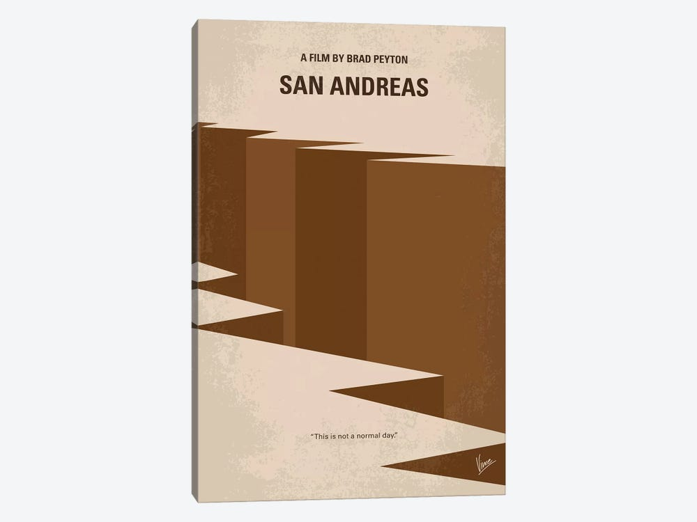 San Andreas Minimal Movie Poster by Chungkong 1-piece Art Print