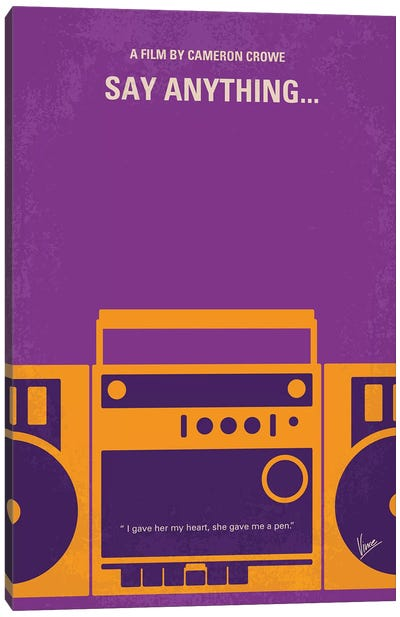 Say Anything Minimal Movie Poster Canvas Art Print