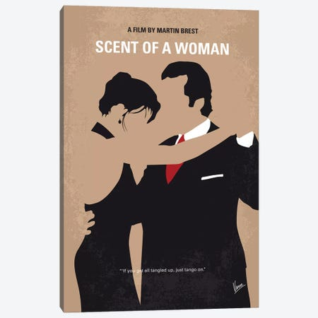 Scent Of A Woman Minimal Movie Poster Canvas Print #CKG998} by Chungkong Canvas Art Print