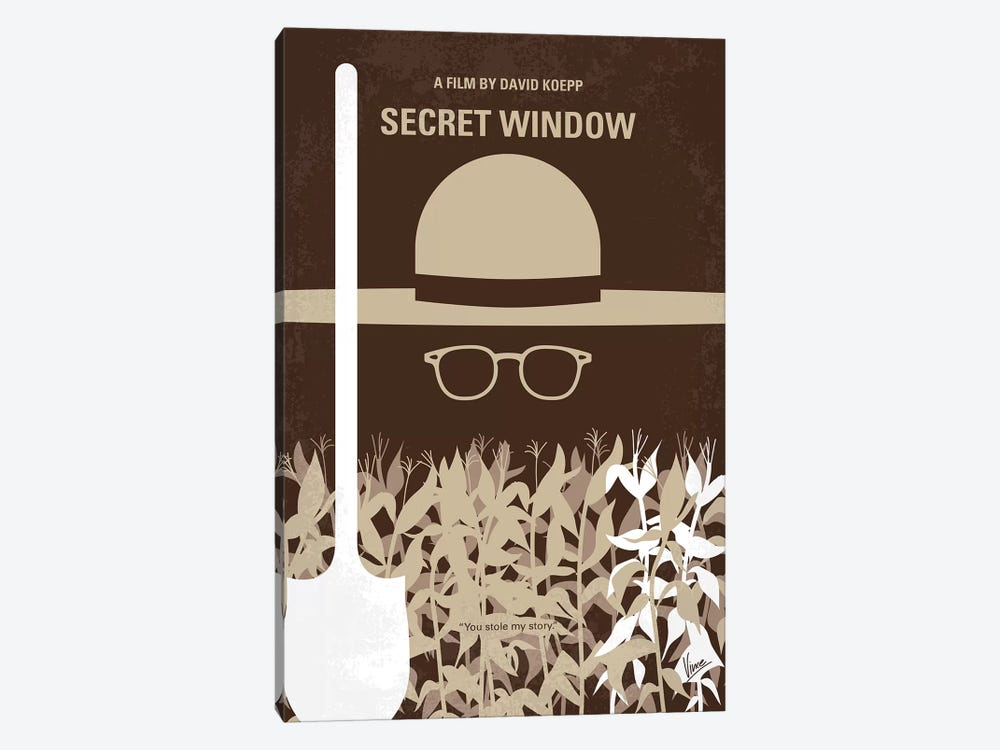 Secret Window Minimal Movie Poster by Chungkong 1-piece Canvas Art Print