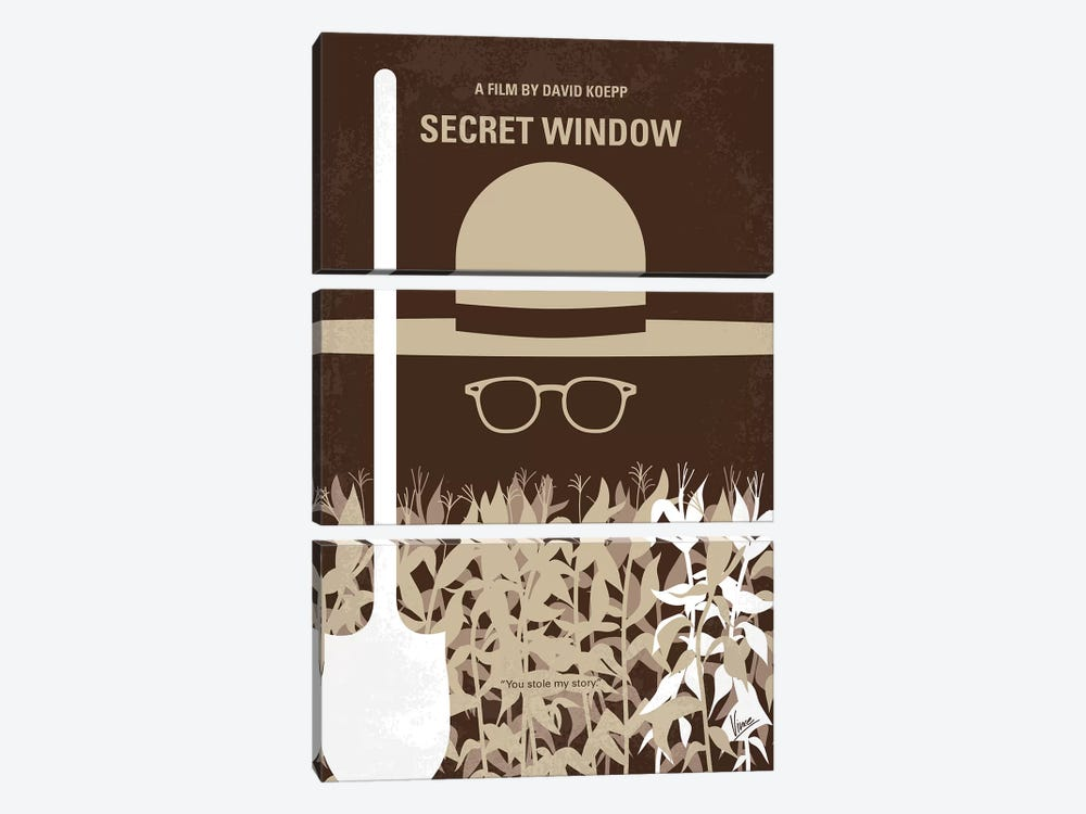 Secret Window Minimal Movie Poster by Chungkong 3-piece Art Print