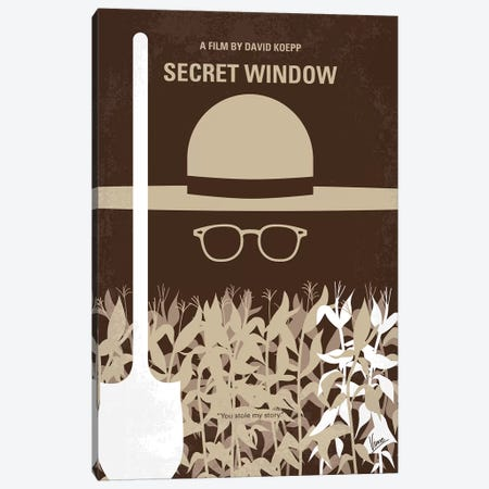 Secret Window Minimal Movie Poster Canvas Print #CKG999} by Chungkong Canvas Art Print