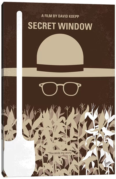 Secret Window Minimal Movie Poster Canvas Art Print