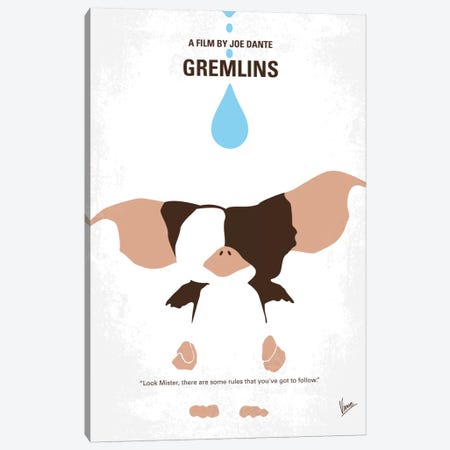 Gremlins Minimal Movie Poster Canvas Print #CKG9} by Chungkong Canvas Print