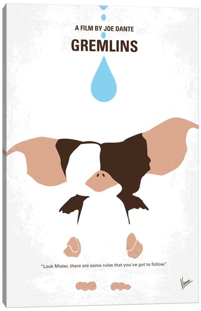 Gremlins Minimal Movie Poster Canvas Art Print