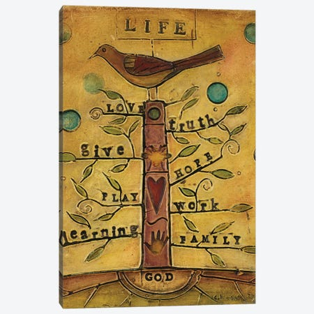 Life Bird Canvas Print #CKI10} by Carolyn Kinnison Canvas Artwork