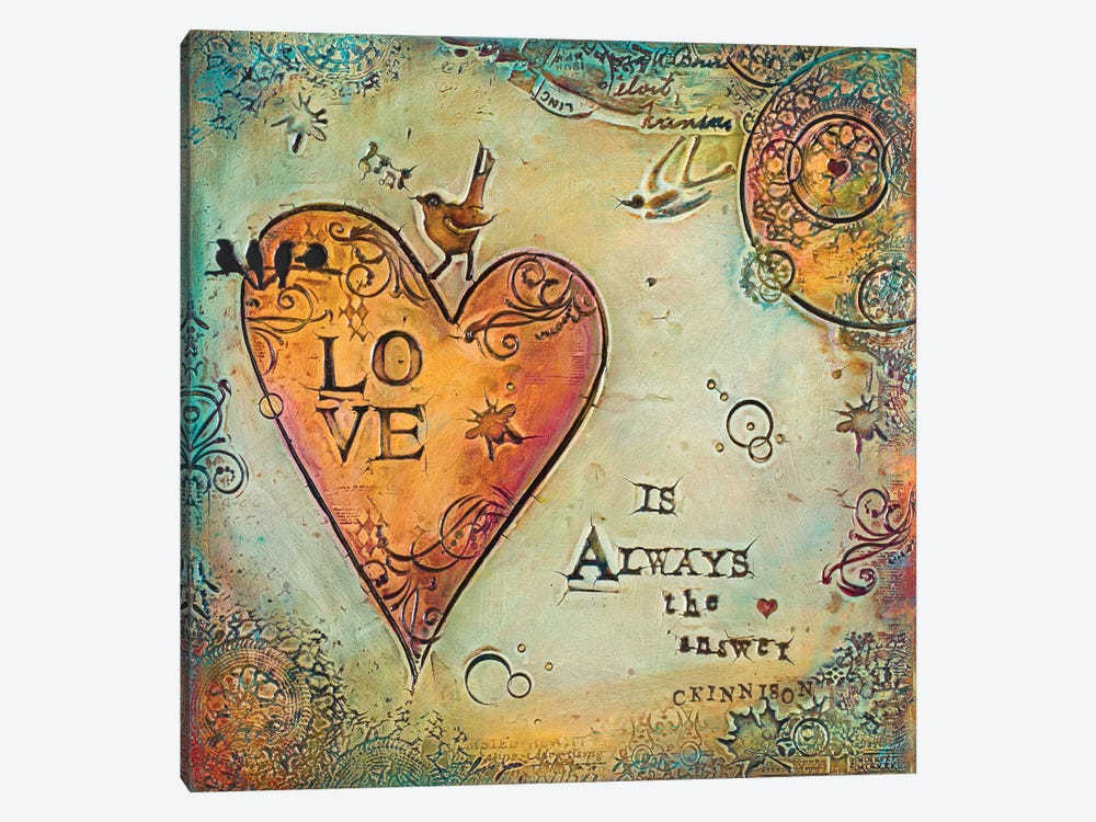 Love is Always The Answer II by Carolyn Kinnison 1-piece Canvas Wall Art