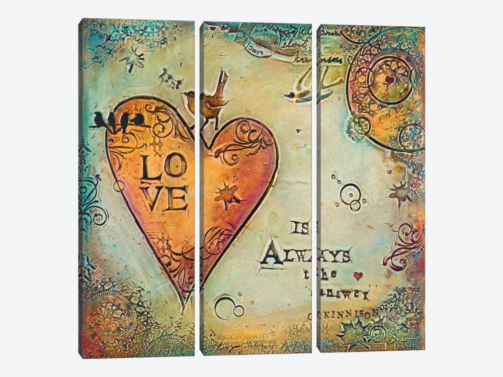Love is Always The Answer II by Carolyn Kinnison 3-piece Canvas Artwork