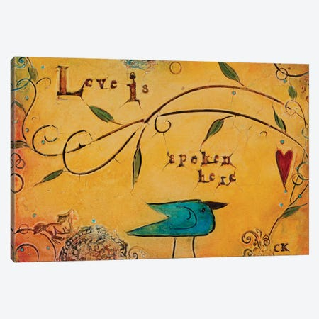 Love is Spoken Here Canvas Print #CKI14} by Carolyn Kinnison Canvas Art Print