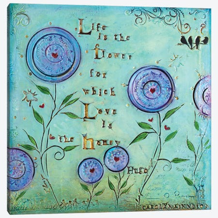 Love Is the Honey Canvas Print #CKI15} by Carolyn Kinnison Art Print