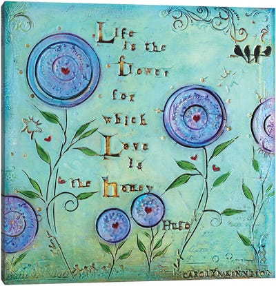 Love Is the Honey Canvas Art Print