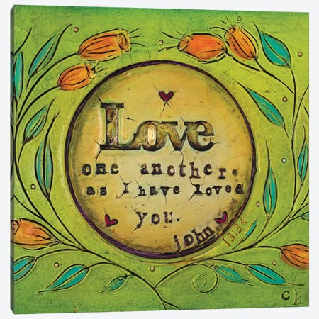 Love One Another 3-Piece Canvas #CKI16} by Carolyn Kinnison Canvas Print